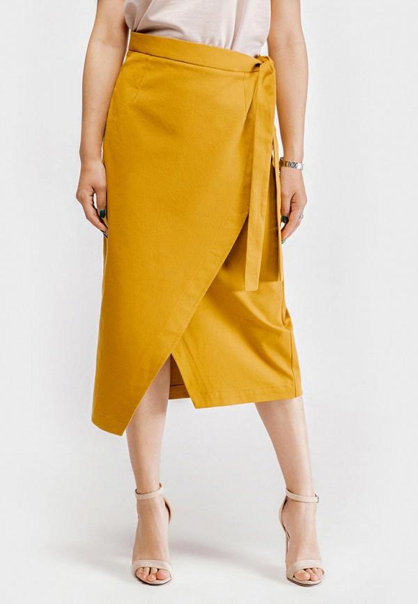 женская юбка true colors, желтая