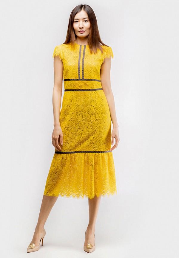 женское вечерние платье true colors, желтое