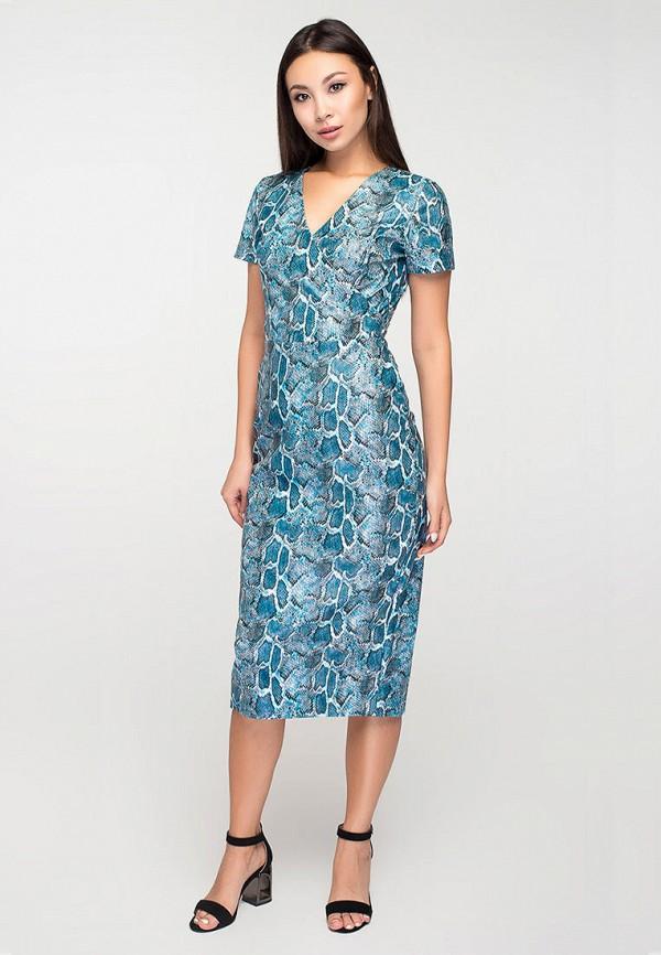 женское повседневные платье elena pokalitsina, голубое