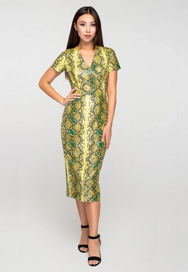 женское повседневные платье elena pokalitsina, желтое