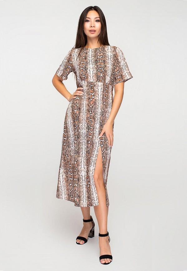 женское повседневные платье elena pokalitsina, коричневое