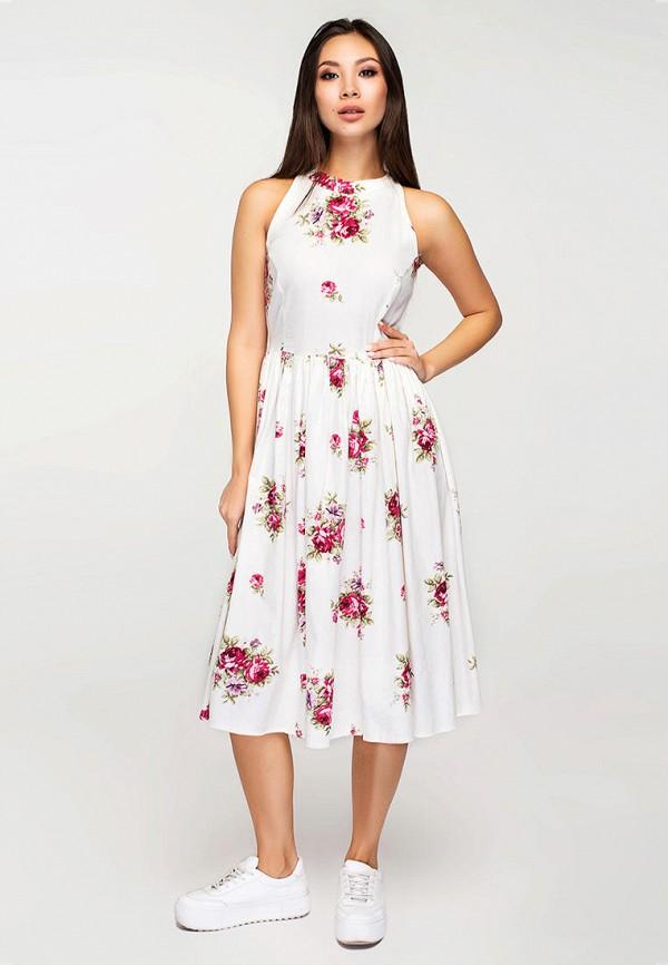 женское повседневные платье elena pokalitsina, бежевое