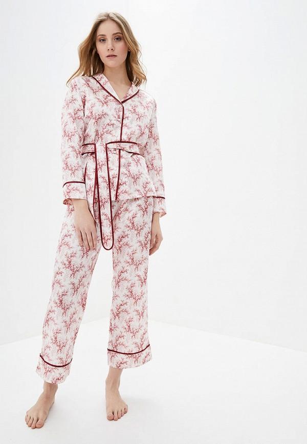 женская пижама reine rouge, белая