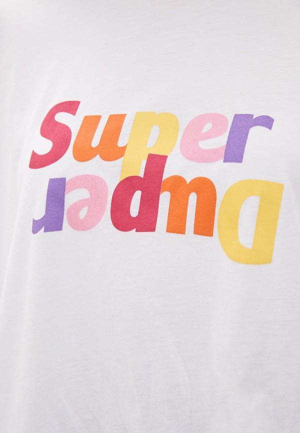 Фото 4 - Женскую футболку Befree белого цвета