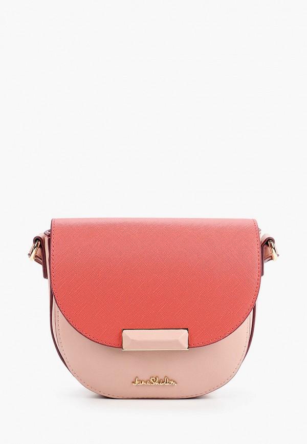 женская сумка через плечо jane shilton, розовая