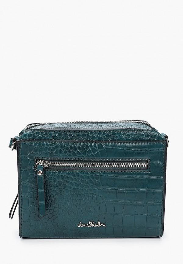 женская сумка через плечо jane shilton, зеленая