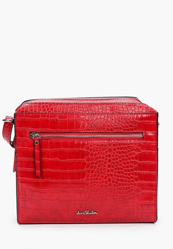женская сумка через плечо jane shilton, красная