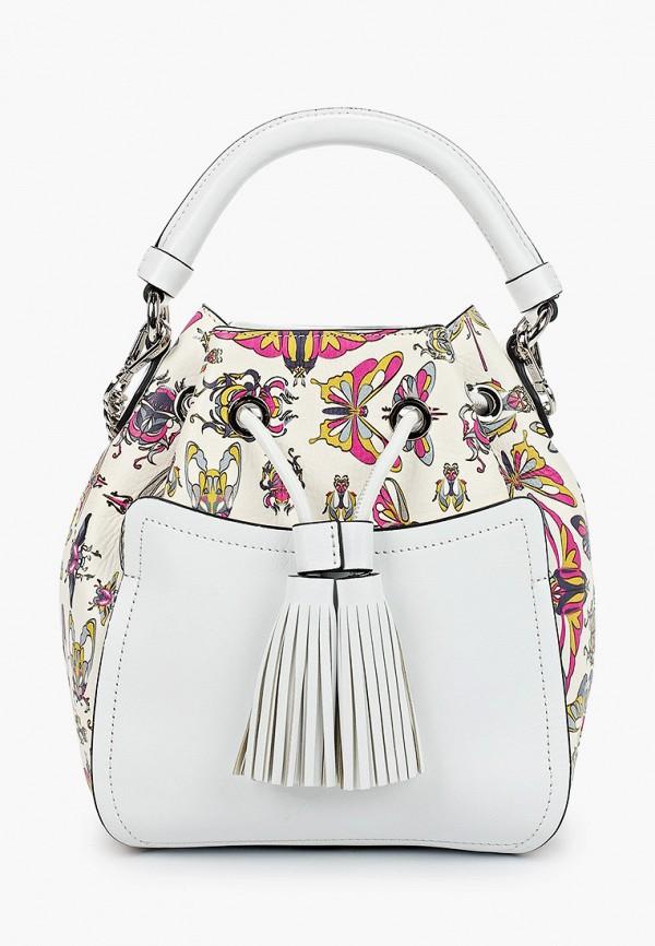 Фото 2 - Женскую сумку Eleganzza белого цвета