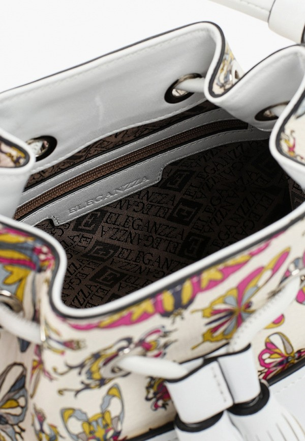 Фото 4 - Женскую сумку Eleganzza белого цвета