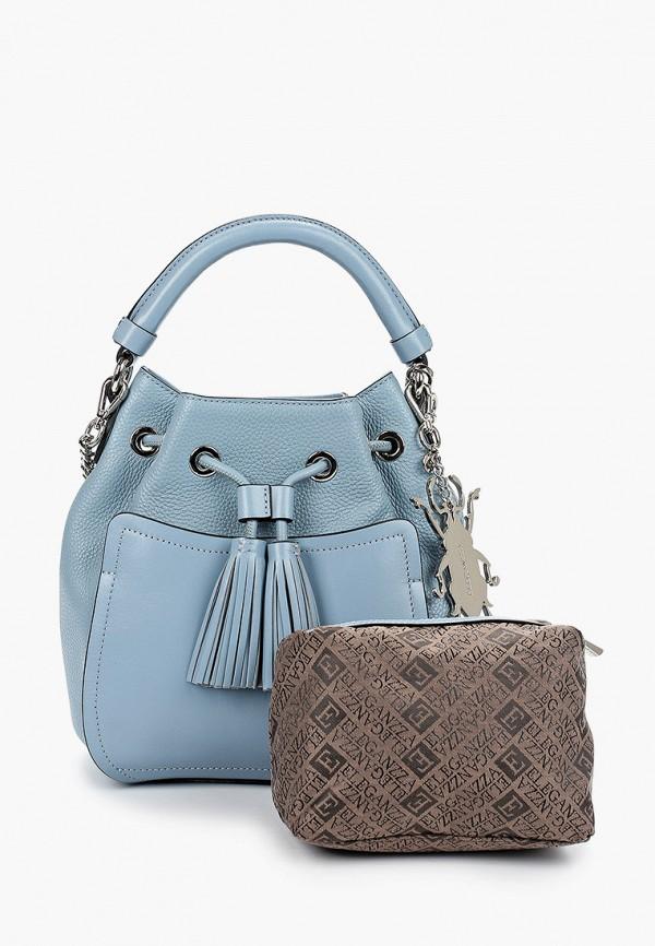 Фото 2 - Женскую сумку Eleganzza голубого цвета
