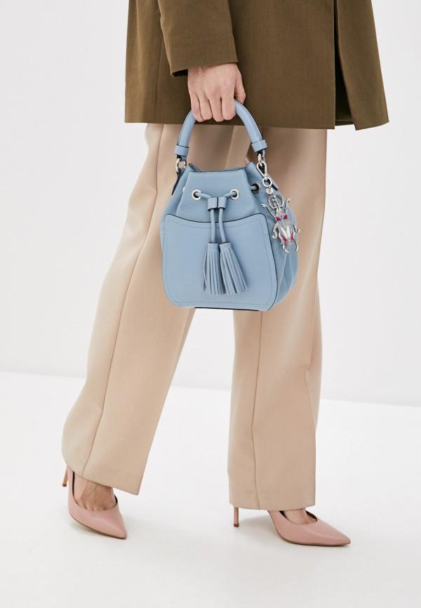 Фото 5 - Женскую сумку Eleganzza голубого цвета