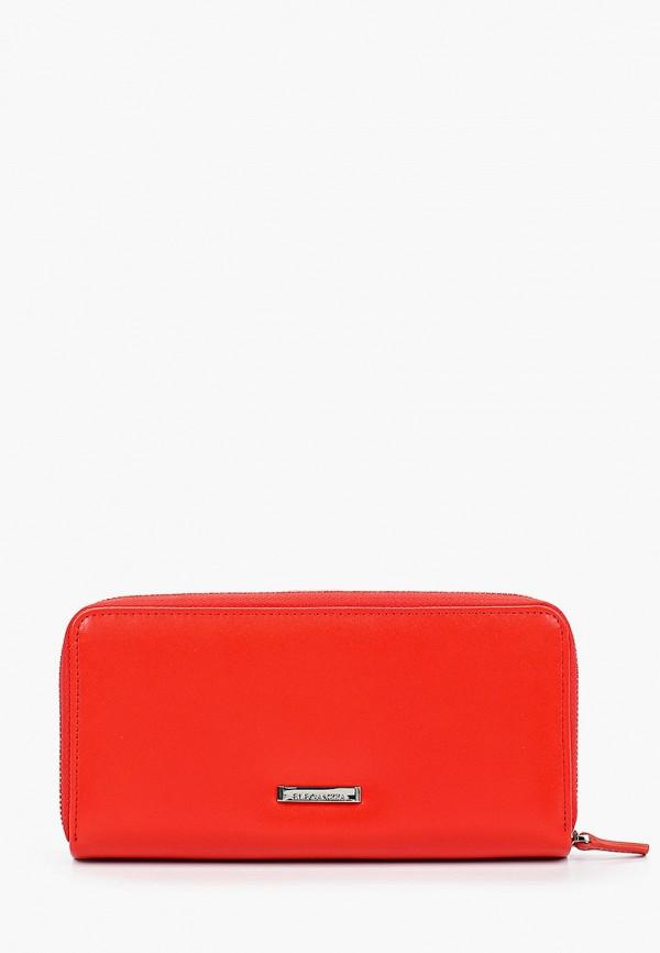 Фото 2 - Женский кошелек или портмоне Eleganzza красного цвета