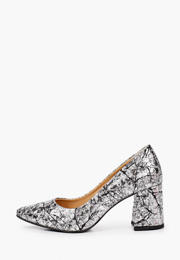 женские туфли с закрытым носом hestrend, серебряные