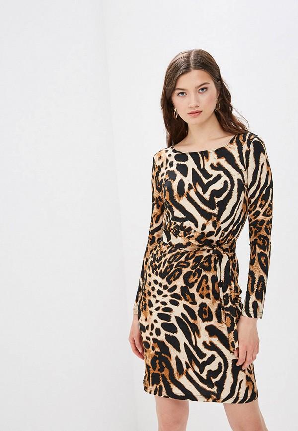 женское повседневные платье buono, коричневое