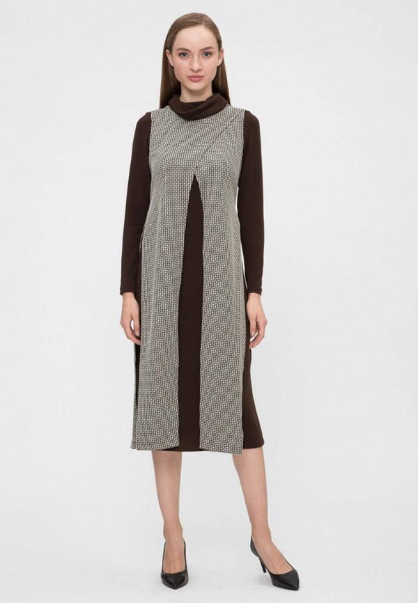 женское платье vergans, коричневое