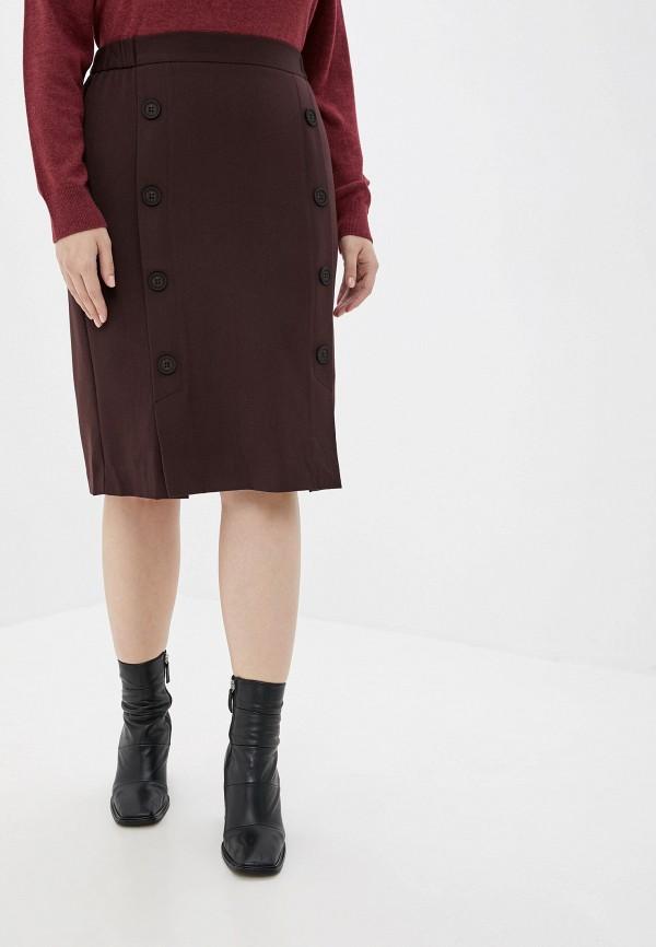 женская юбка averi, коричневая