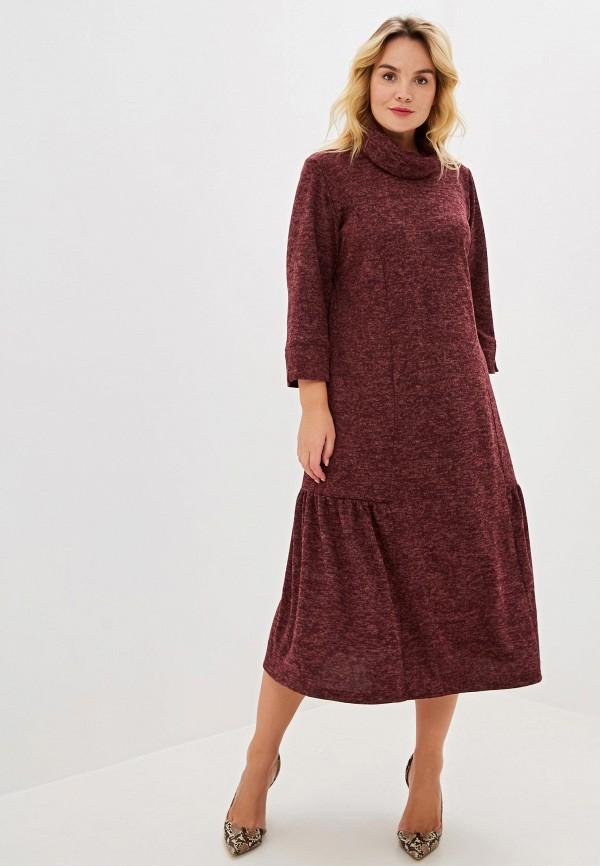 женское платье артесса, бордовое