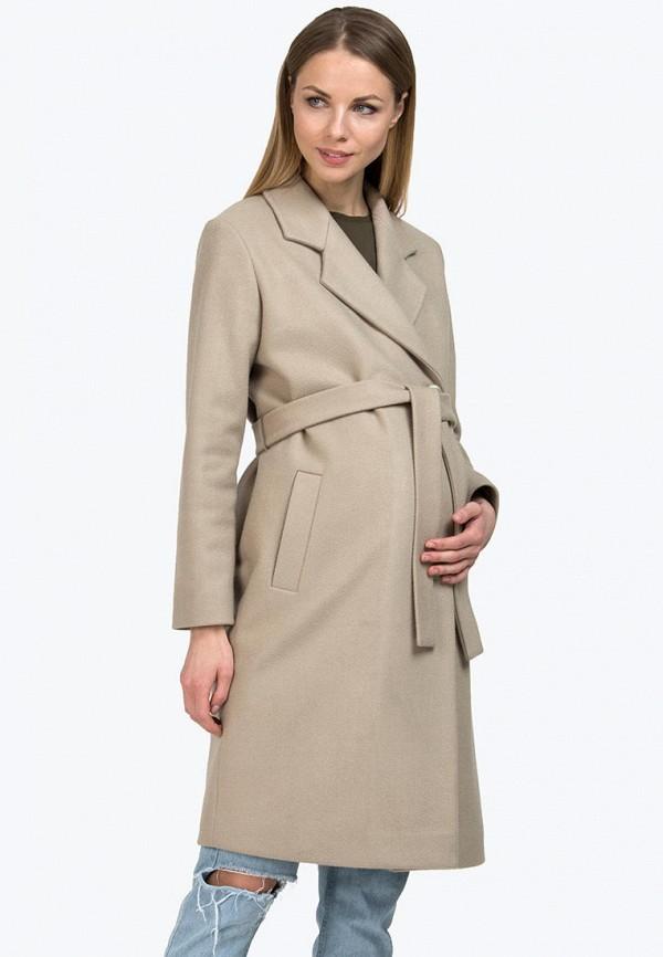 женское пальто modress, бежевое