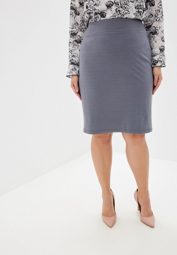 женская юбка космея, серая