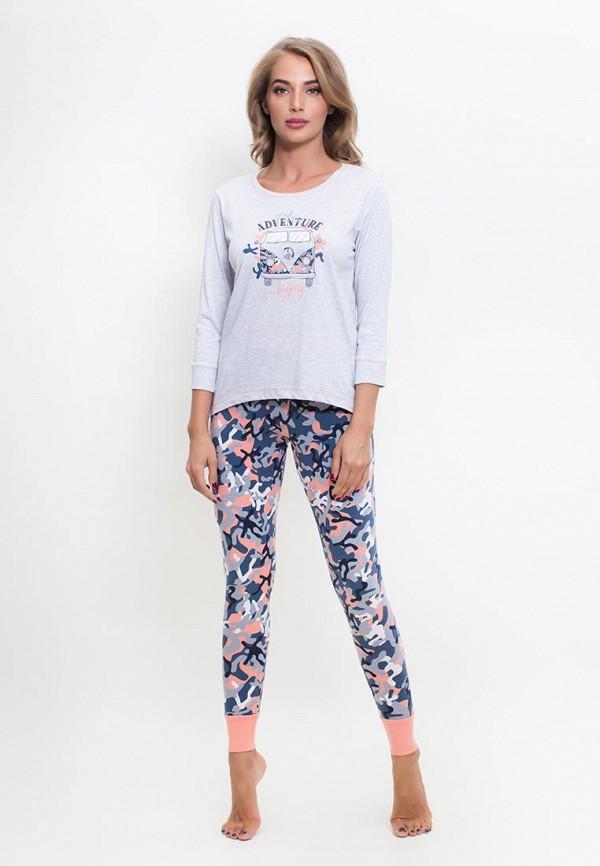 Костюм домашний Vienetta Vienetta MP002XW151CT домашний комплект женский vienetta s secret lulu кофта брюки цвет серый меланж 802082 0125 размер xl 50