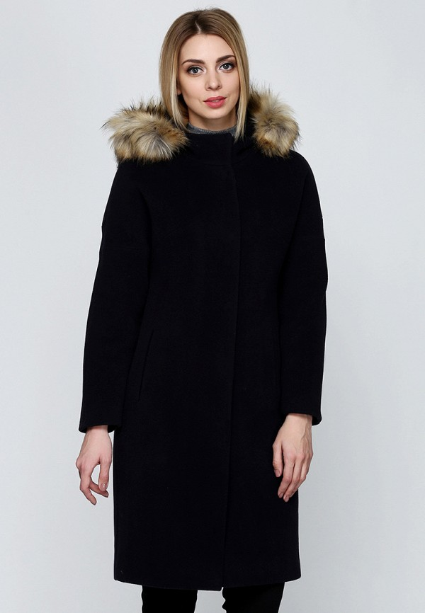 женское пальто florens, фиолетовое