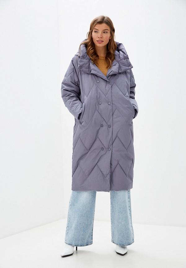 женская утепленные куртка tom farr, голубая