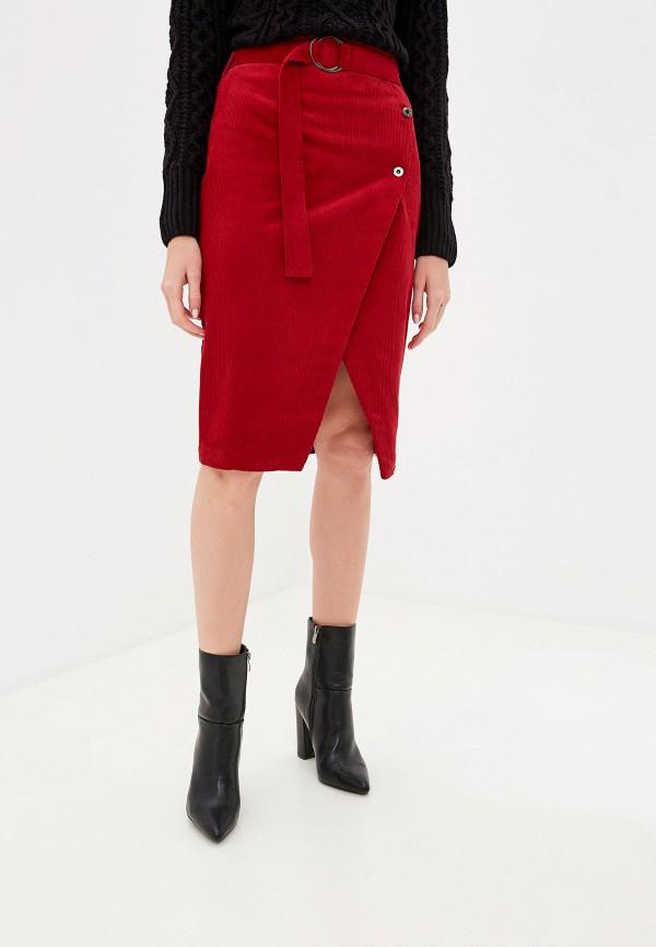 женская юбка befree, красная