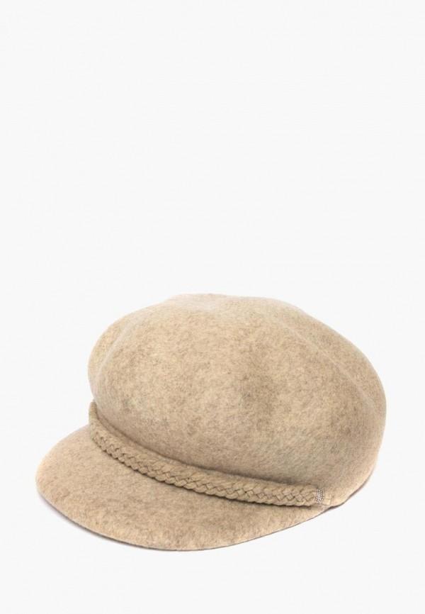 женская кепка elegant, бежевая