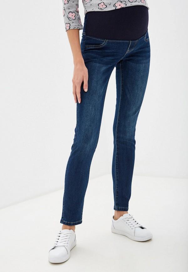 женские джинсы скинни i love mum, синие