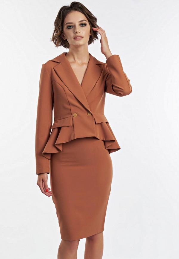 женский костюм irma dressy, коричневый