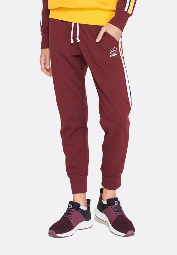 женские спортивные спортивные брюки lotto, бордовые
