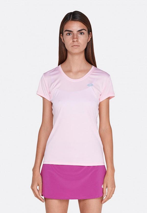 женская спортивные футболка lotto, розовая