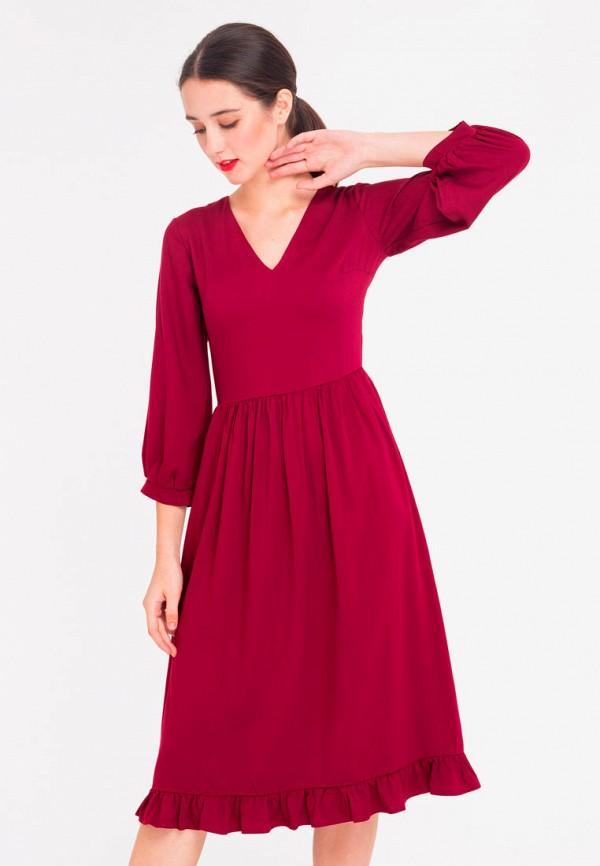 платье  shtoyko, бордовое