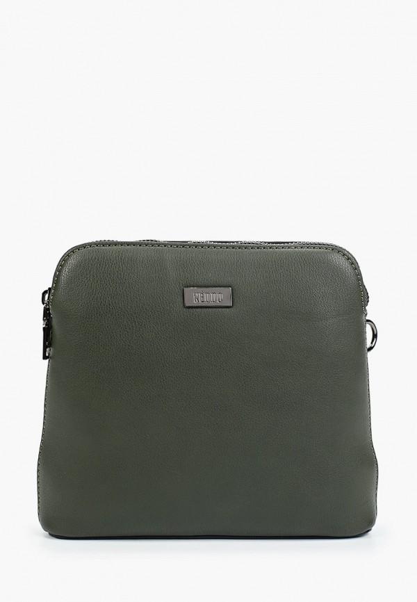 женская сумка через плечо keddo, зеленая