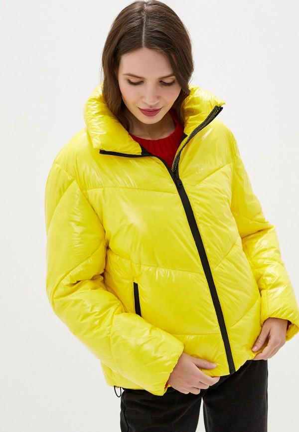 женская куртка keddo, желтая