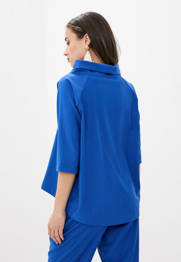 Фото 3 - Женскую блузку Ummami синего цвета
