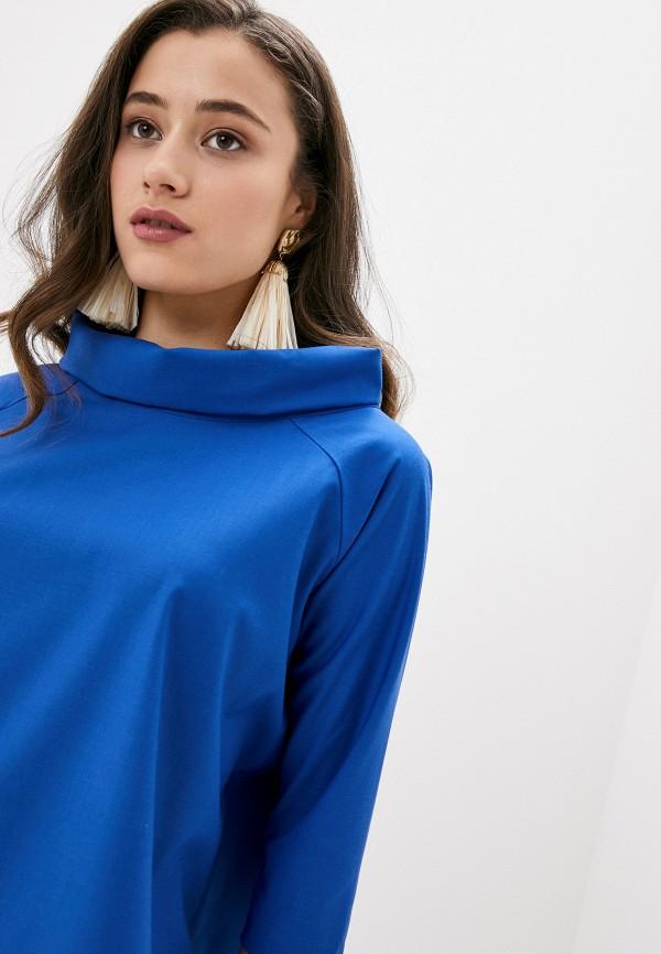 Фото 4 - Женскую блузку Ummami синего цвета