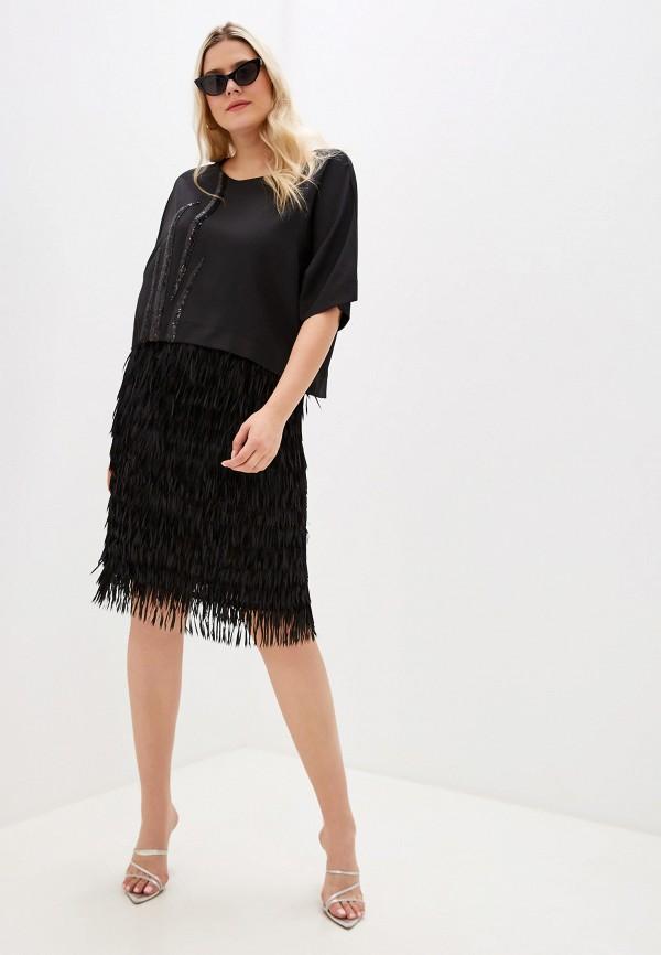 женский костюм asv fashion design, черный