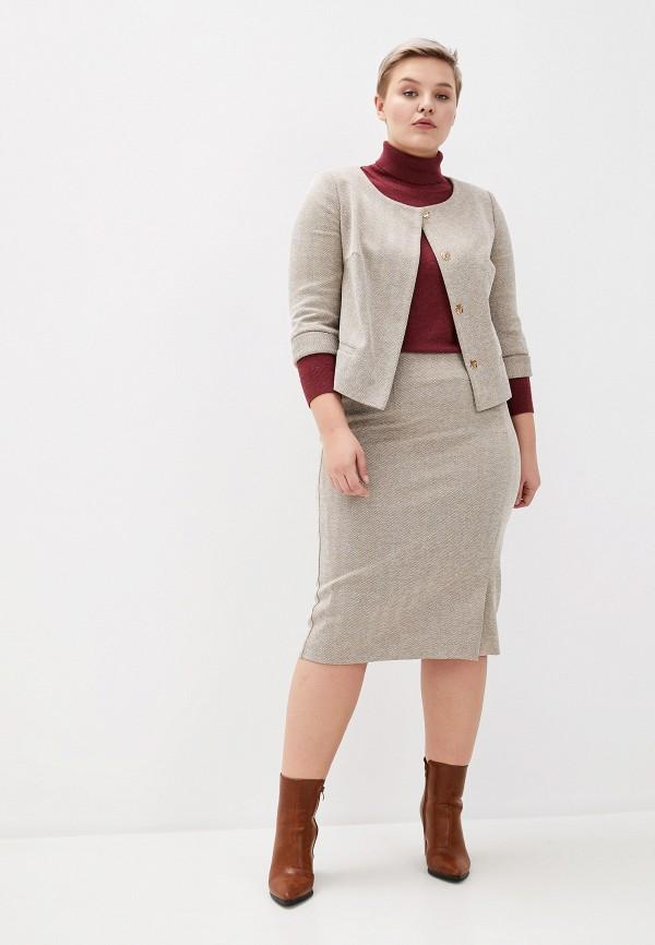 женский костюм asv fashion design, бежевый