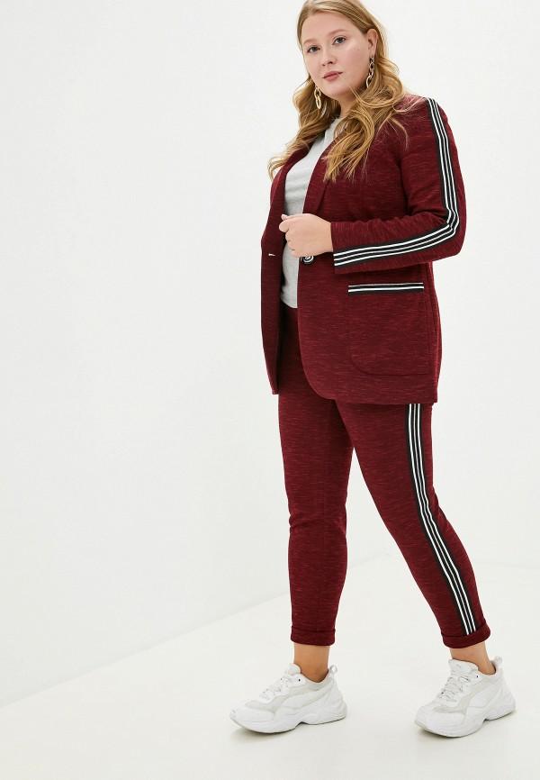 женский костюм asv fashion design, бордовый