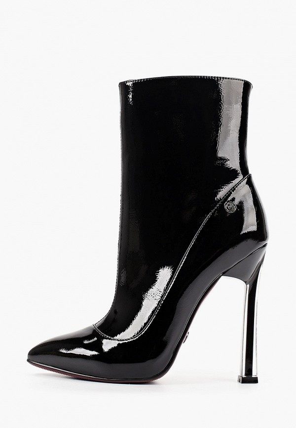 женские высокие ботильоны marco bonne', черные