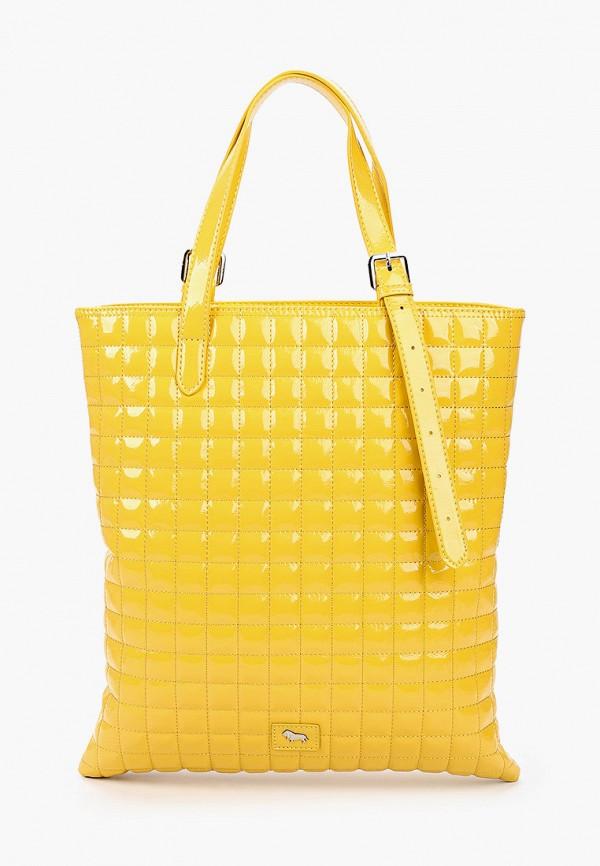 женская сумка с ручками labbra, желтая