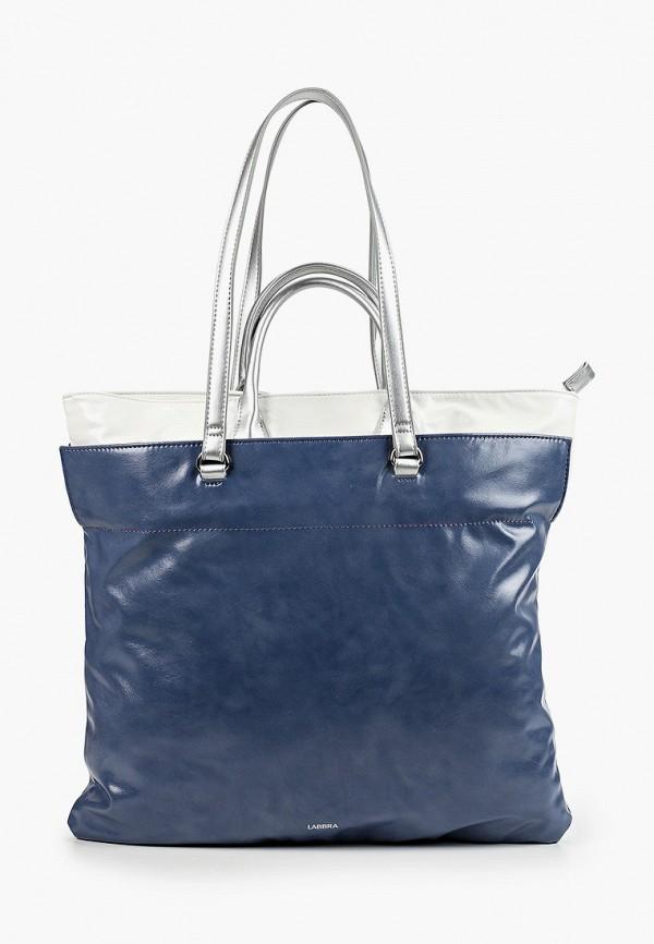 женская сумка с ручками labbra, синяя