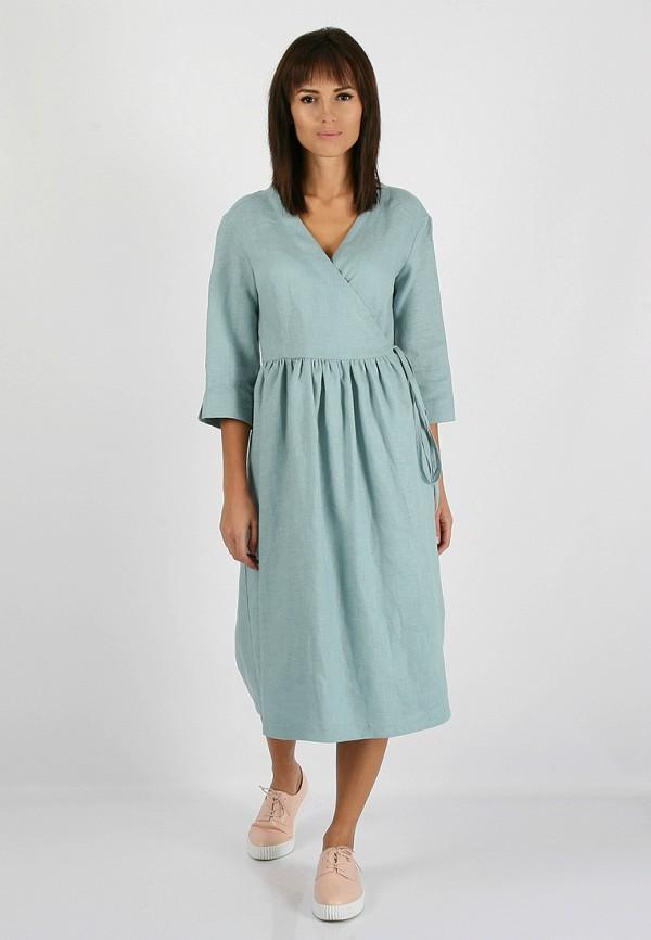 женское платье morandi, бирюзовое