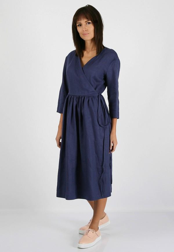 женское платье morandi, синее