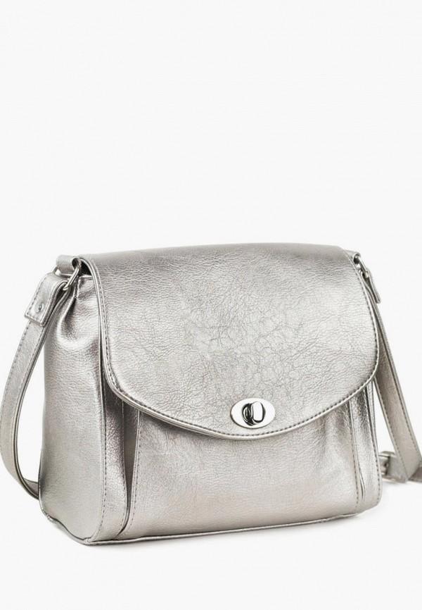 женская сумка через плечо vita, серебряная