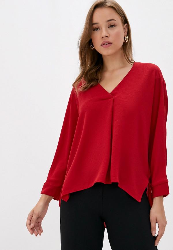 женская блузка с длинным рукавом mark formelle, красная