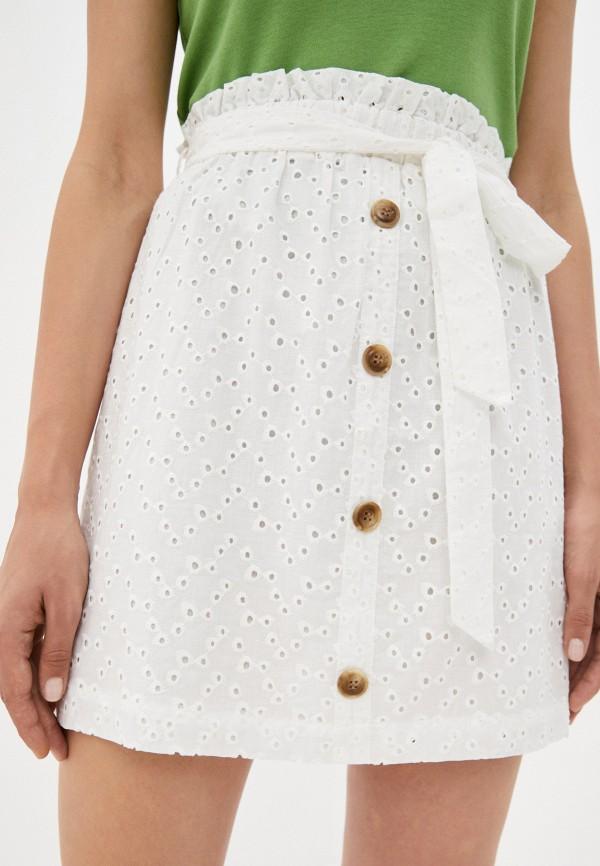 женская юбка-трапеции befree, белая