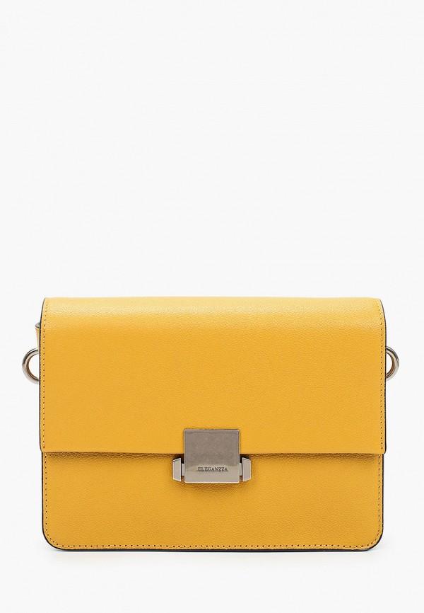женская сумка через плечо eleganzza, желтая