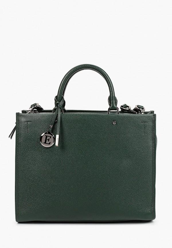 женская сумка с ручками eleganzza, зеленая